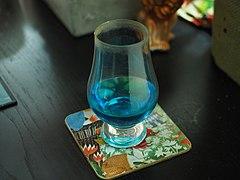 Peppermint liqueur in a glass.jpg