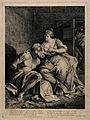 Pero breast-feeding her father Cimon in prison. Line engravi Wellcome V0015271.jpg