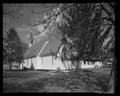 Perspective view from southwest. - St. Andrew's Chapel, 104 Maple Avenue, Sudlersville, Queen Anne's County, MD HABS MD-1391-2.tif