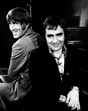 Dudley Moore - Moore (right) with Peter Cook in 1974