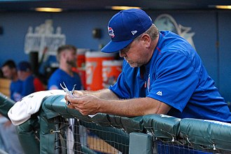 Marty Pevey - Pevey as manager of the Iowa Cubs in 2017
