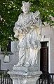 Pfarrkirche Verklärung Christi, Murstetten - statue of John Nepomuk.jpg