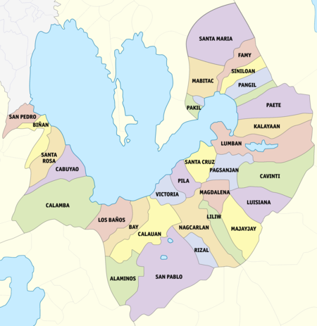 Clickable Map of the Administrative Divisions of Laguna
