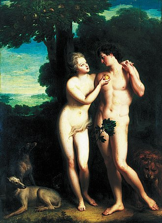 Jean-Baptiste Santerre - Philippe d'Orléans and his official mistress Marie Madeleine de la Vieuville, comtesse de Parabère (as Adam and Eve)