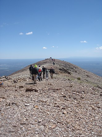 Baldy Mountain (Colfax County, New Mexico) - Image: Philmont Scout Ranch Baldy Mountain summit ridge