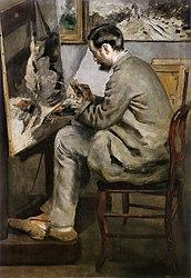 Pierre-Auguste Renoir: Portrait of Frédéric Bazille Painting