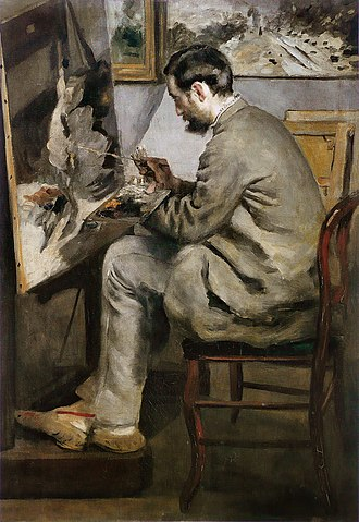 Frédéric Bazille - Pierre-Auguste Renoir, Frédéric Bazille painting The Heron