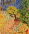 PierreBonnard-1946-Stairs with Mimosa.png