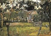 Piet Mondriaan - Farmyard in Het Gooi flanked by saplings - A176 - Piet Mondrian, catalogue raisonné.jpg