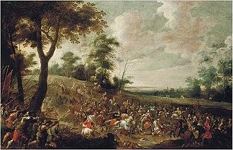 Pieter Meulener - A cavalry skirmish