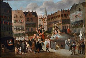 Pieter van Aelst (17th century) - The Ommegang in Antwerp