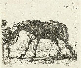 Pieter van Laer - Urinating horse