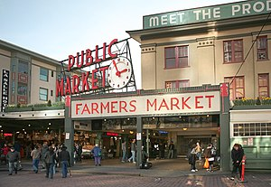 Deutsch: Pike Place Markt in Seattle English: ...