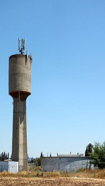 עפולה: מגדל המים בפינת דרך רבין ודרך בן גוריון ב'