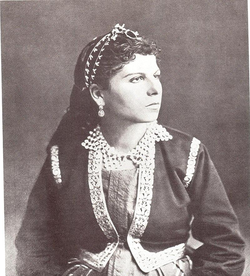 צעירה יהודית בטבריה 1890