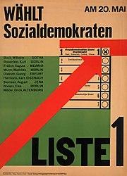 Plakat Sozialdemokraten 1928