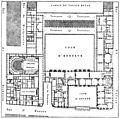 Plan du premier étage du Palais-Royal après sa restauration par Fontaine 1833 - Espezel 1936 p201 (adjusted).jpg