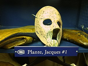 Jacques Plante goalie mask, Hockey hall of Fame