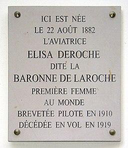 Plaque Deroche