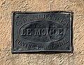 Plaque ancienne - Cie d'assurances Le Monde contre l'incendie.jpg