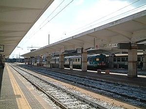 Taranto railway station - View of the platforms.