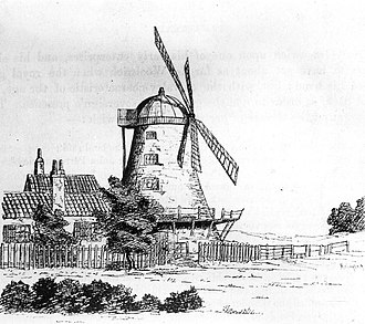 Plumstead Common Windmill - Drawing dated 1820