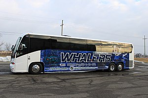 Plymouth Whalers - Plymouth Whalers team bus