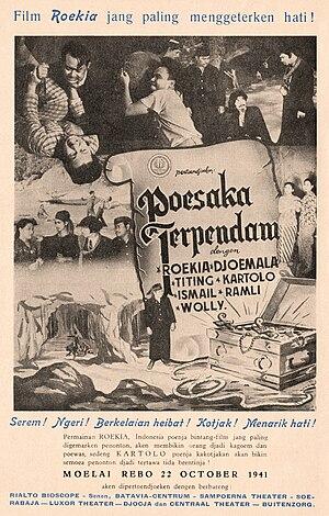 Tan's Film - Magazine advertisement for Poesaka Terpendam, Tan's penultimate film