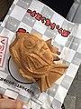 Pokemon Magikarp Taiyaki Pancake from Kurikoan, Akihabara shop, Sotokanda 1-15-1 (コイキング焼き, 秋葉原 くりこ庵, 外神田1-15-1) (2017-04-06 13.23.04 by Tokyo Girl).jpg