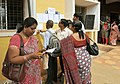 Polling officials checking necessary inputs required for the General Elections-2014, at the distribution centre, in Visakhapatnam, Andhra Pradesh on May 06, 2014.jpg
