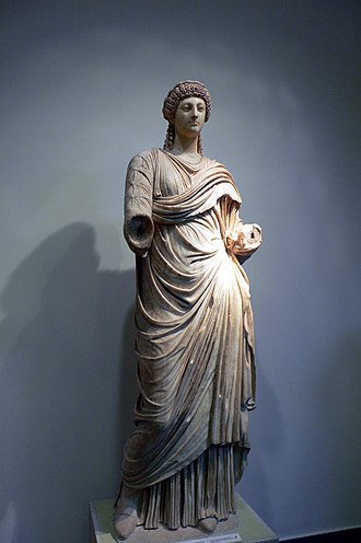 Poppaea Sabina - Statue of Poppaea in the Archaeological Museum of Olympia (Greece)