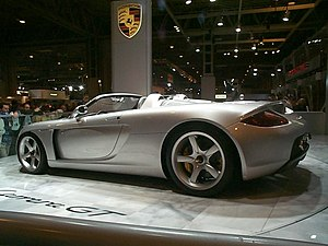 Porsche Carrera GT - Porsche Carrera GT concept in 2000 at the Paris Motor Show.