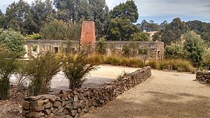 Port Arthur massacre (Australia) - The café structure in 2015. A memorial garden has been established at the site.