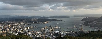 Sasebo, Nagasaki - Image: Port of Sasebo viewed from Mount Yumihari