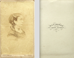 Portrait of woman by B and G Moses of 1 Camp Street in New Orleans USA.png