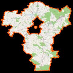 Mapa lokalizacyjna powiatu radomskiego