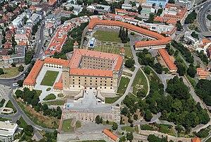 Bratislava Castle - Aerial view of the complex of Bratislava Castle