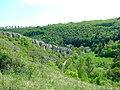 Praha, Zadní Kopanina, pohled na skály v Radotínském údolí.jpg