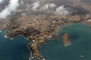 Aerial view of Praia