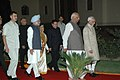 Pratibha Patil, the Vice President Shri Hamid Ansari, the Prime Minister, Dr. Manmohan Singh and the Union Minister for Information & Broadcasting and Parliamentary Affairs.jpg