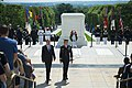 President Klaus Iohannis of Romania Participates in a Full Honors Wreath Laying Ceremony (34297279674).jpg