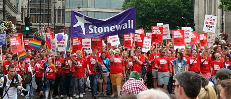 Stonewall group marching at London Pride 2011.