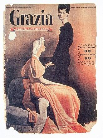 Grazia - First cover Grazia 1938 Mondadori