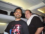 Prince Agarwal and Dominic board the plane (191765557).jpg