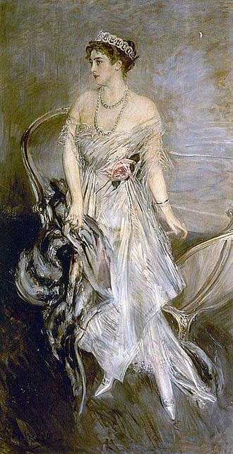 Princess Anastasia of Greece and Denmark - Portrait by Giovanni Boldini, 1914