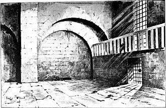 Prison de l'Abbaye - The abbey chapel in 1793.