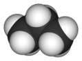 3D model of a propane molecule