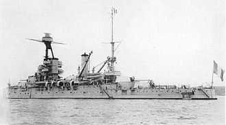 French battleship Provence - US Navy recognition photo of Provence