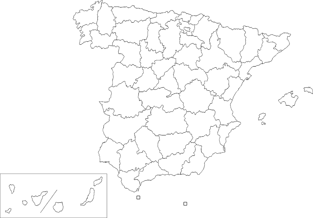 Picture of: Archivo Provinces Of Spain Blank Map Png Wikipedia La Enciclopedia Libre