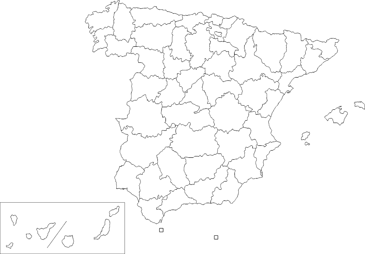 Map Of Spain Blank.File Provinces Of Spain Blank Map Png Wikimedia Commons